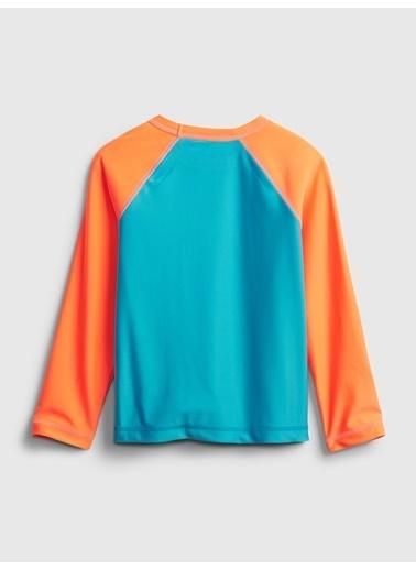 Gap 3 Boyutlu Grafik Mayo T-Shirt Mavi